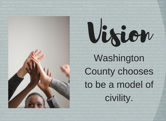 Hands up together - Choose Civility Vision